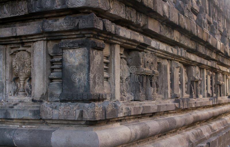Hulp van prambanan tempellichaam royalty-vrije stock fotografie