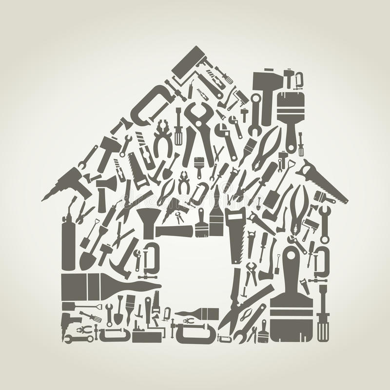 Hulpmiddel het huis stock illustratie