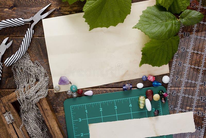 Hulpmiddelen en punten voor juwelen royalty-vrije stock afbeelding