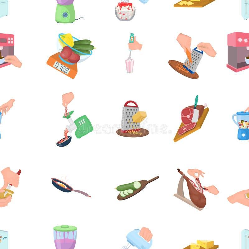 Hulpmiddelen, keuken, materiaal en ander Webpictogram in beeldverhaalstijl komkommer, tomaat, peperpictogrammen in vastgestelde i royalty-vrije illustratie
