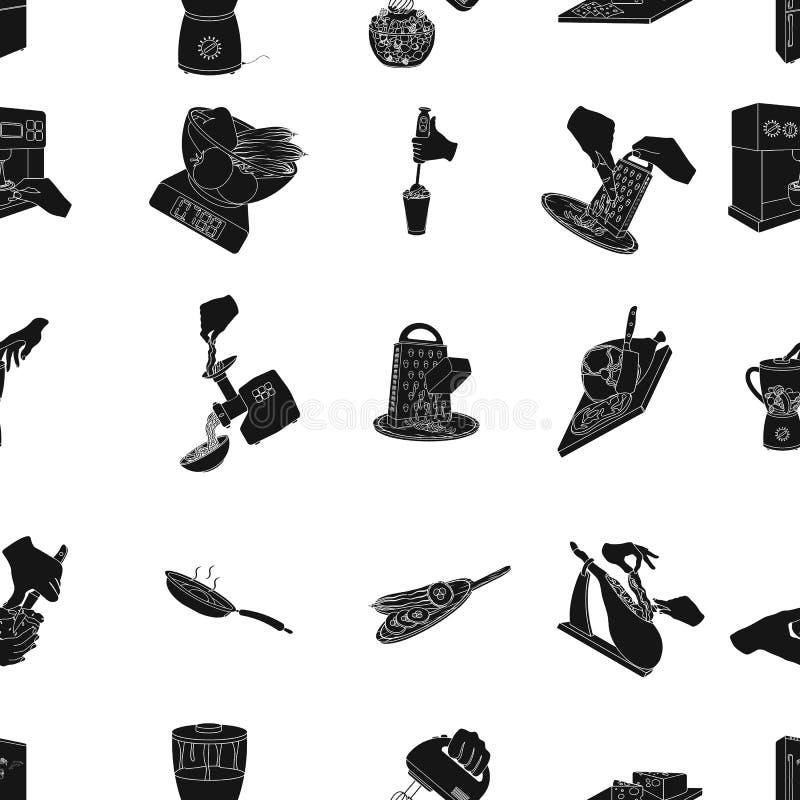 Hulpmiddelen, keuken, materiaal en ander Webpictogram in zwarte stijl komkommer, tomaat, peperpictogrammen in vastgestelde inzame stock illustratie