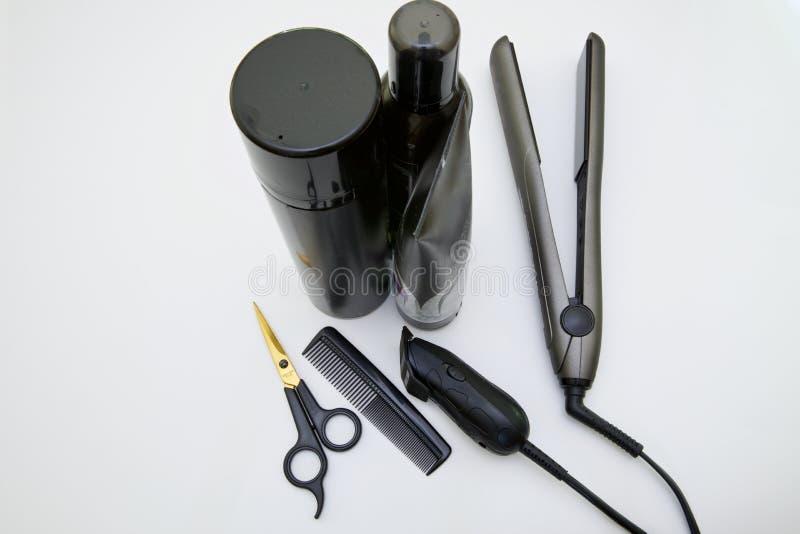 Hulpmiddelen van het hairstyling beroep royalty-vrije stock foto