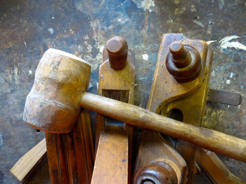 Hulpmiddelen voor hout stock afbeeldingen