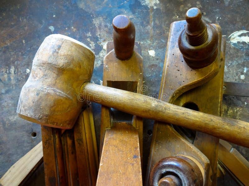 Hulpmiddelen voor hout royalty-vrije stock fotografie