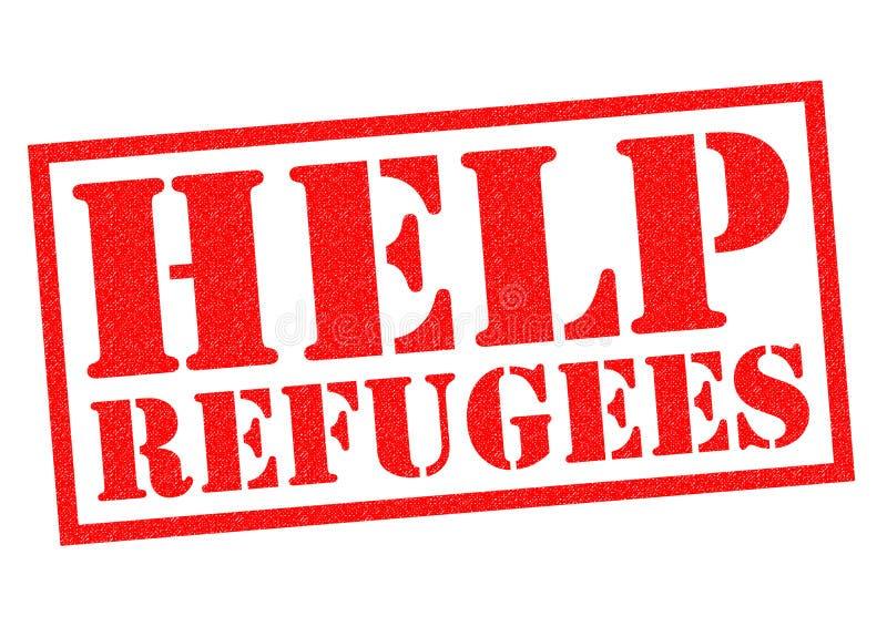HULPvluchtelingen stock illustratie