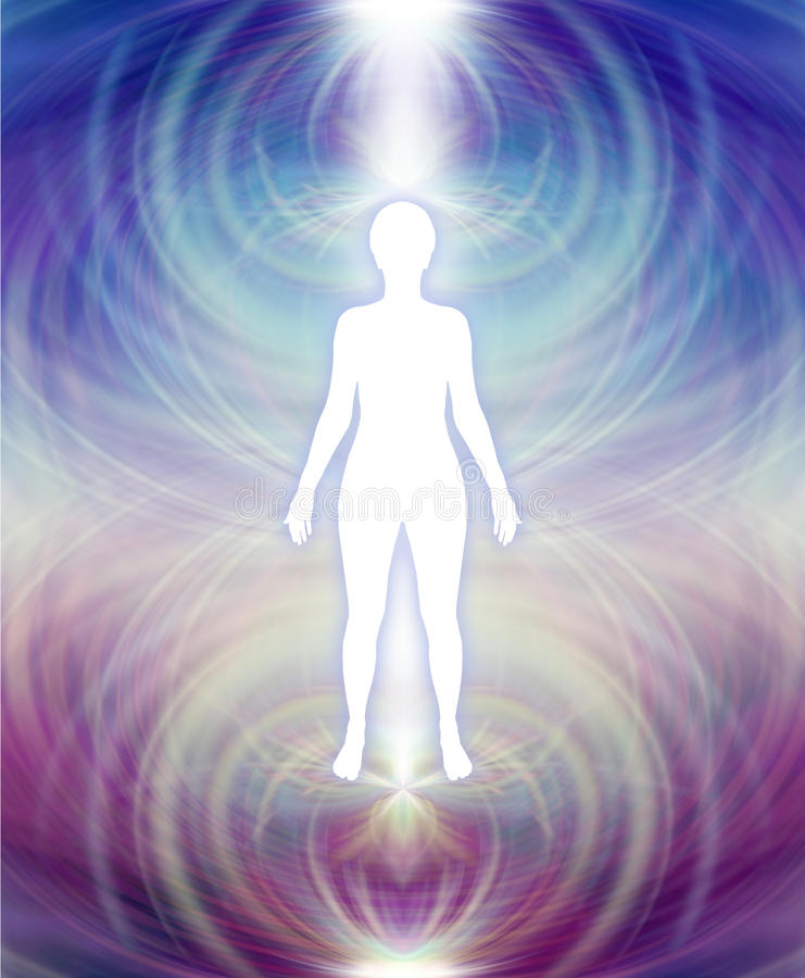 Humain Aura Energy Field illustration stock