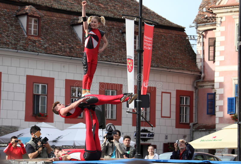 Download Human Acrobatic Tower Editorial Stock Photo - Image: 31828023