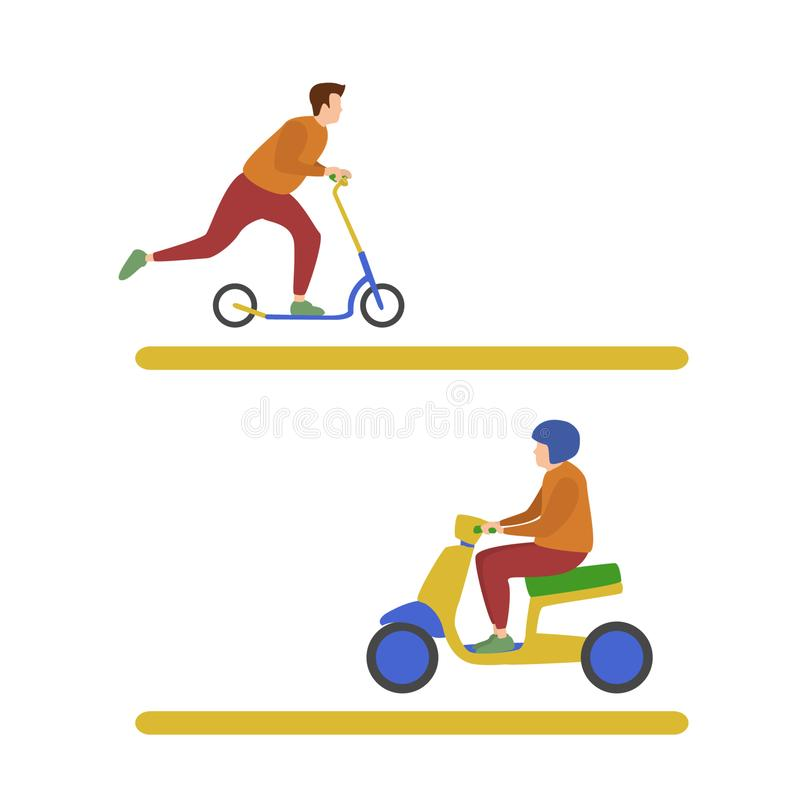 Human Activities Transport royalty free illustration