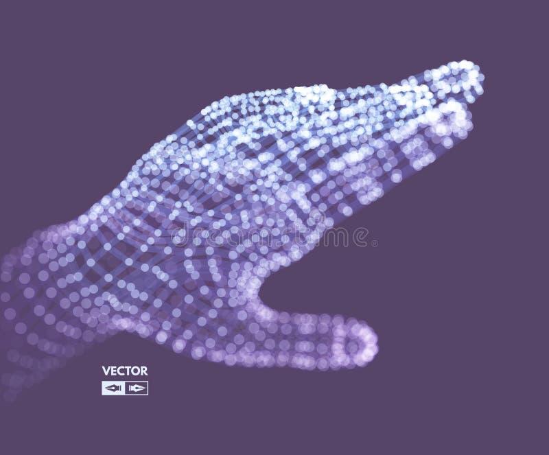 Human Arm. Hand Model. Connection structure. Future technology concept. 3D Vector illustration vector illustration