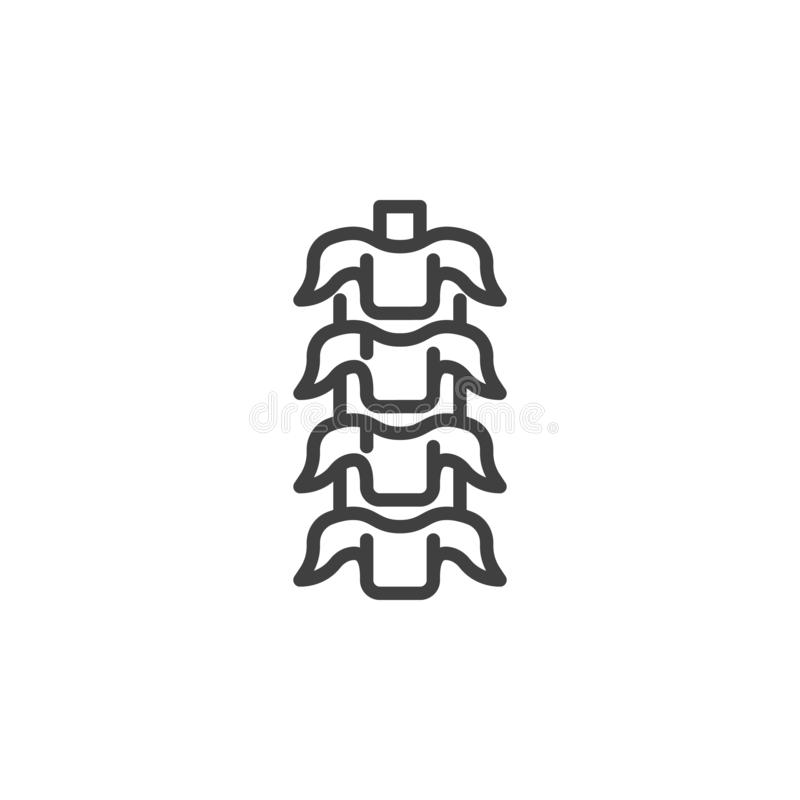 Human Backbone line icon. Linear style sign for mobile concept and web design. Spinal cord backbone outline vector icon. Symbol, logo illustration. Vector vector illustration