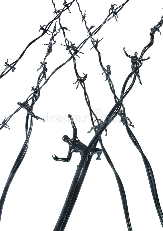 Download Human barbed wire stock illustration. Illustration of agony - 19514523