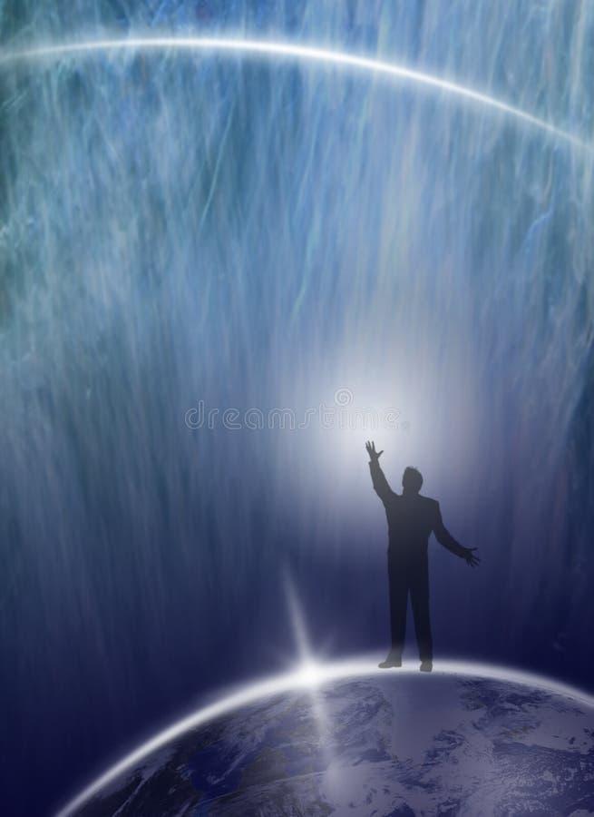 Download Human Being Asking Universe Stock Image - Image: 8095029