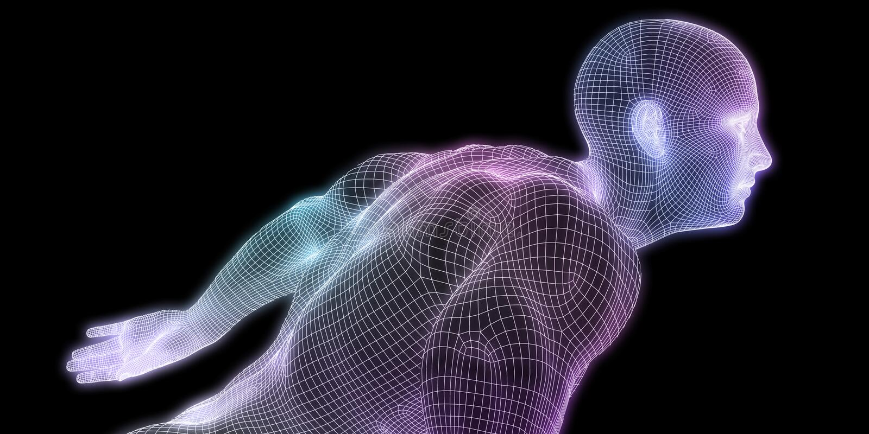 Human Body Digital royalty free illustration