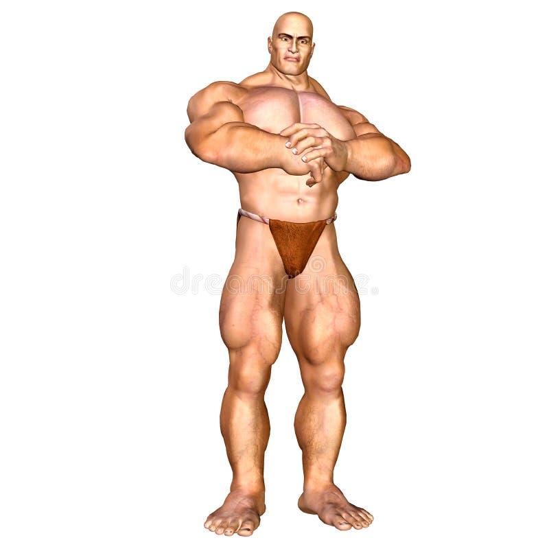 Human Body - Muscular Man Royalty Free Stock Image