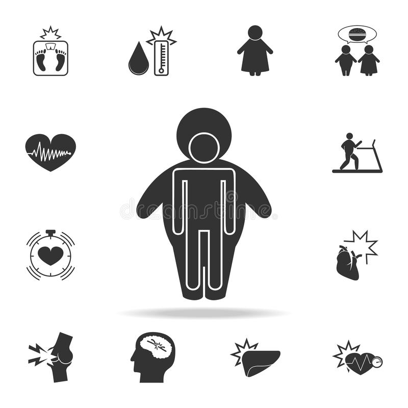 human body in an obese shell icon. Detailed set of obesity icons. Premium graphic design. One of the collection icons for website vector illustration
