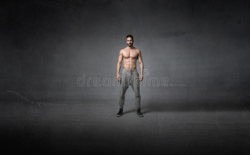 Human body ready for workout stock photos