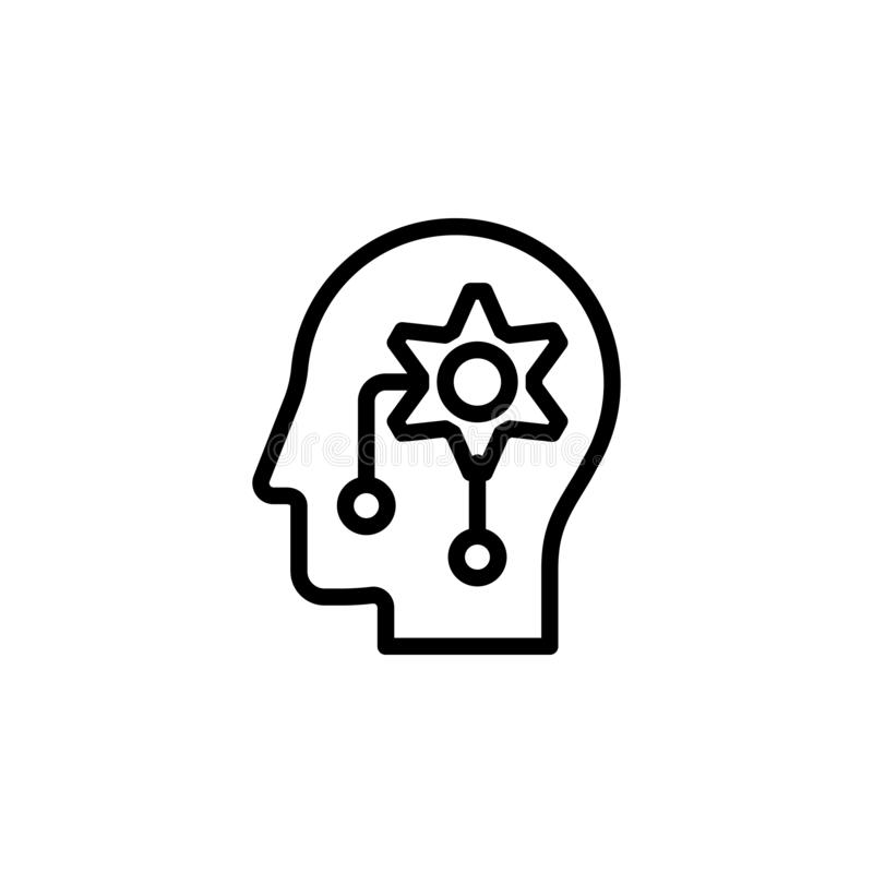 human, brain, artificial, intelligence icon. Simple thin line, outline vector of Mind process icons for UI and UX, website or vector illustration