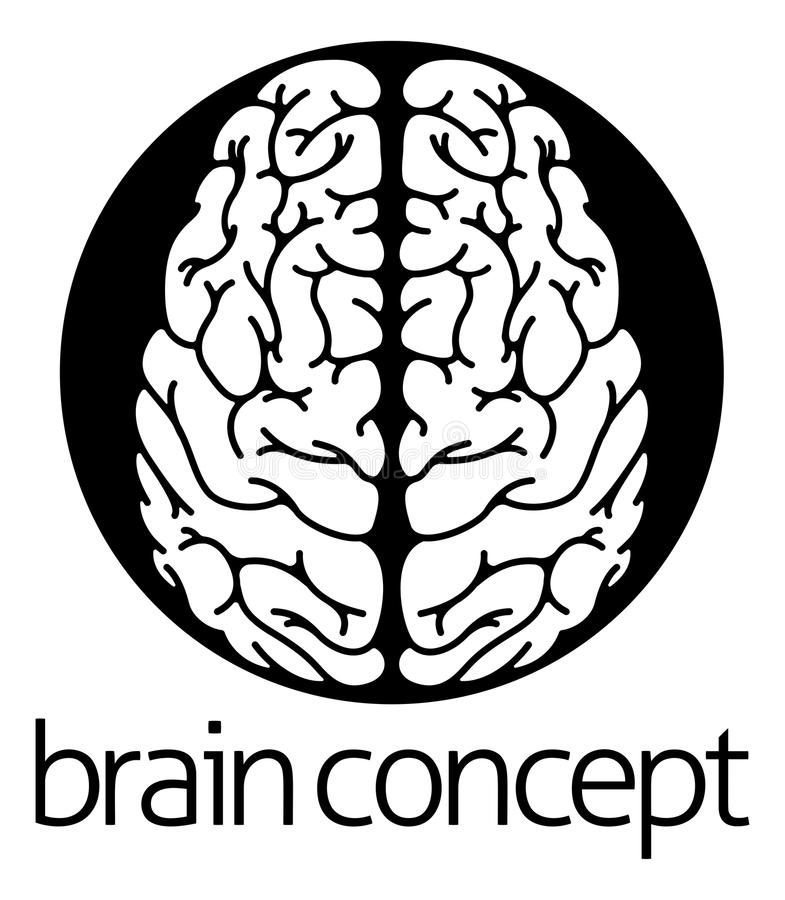 Human brain circle concept royalty free illustration