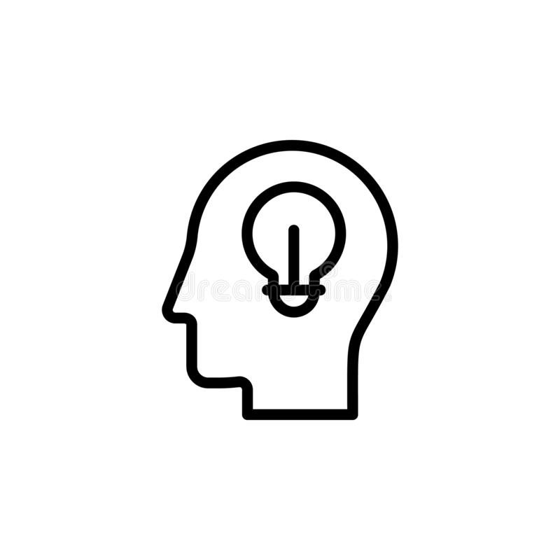 human, brain, communication icon. Simple thin line, outline vector of Mind process icons for UI and UX, website or mobile stock illustration