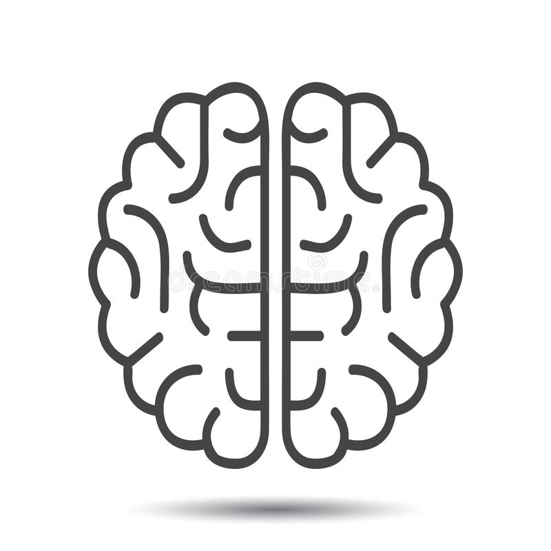 Human brain icon - vector. Human brain icon - stock vector stock illustration