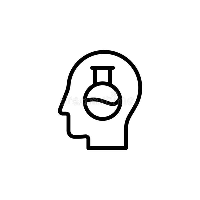 Human, brain, innovation icon. Simple thin line, outline vector of Mind process icons for UI and UX, website or mobile application. On white background vector illustration