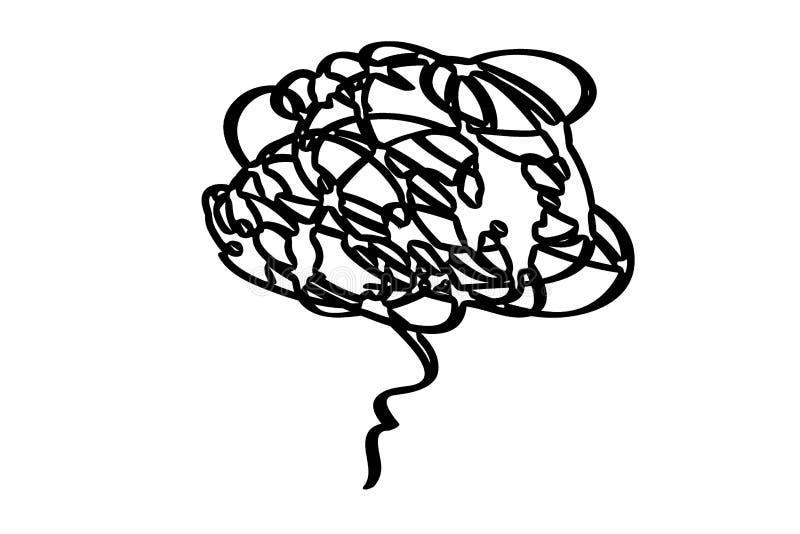 Human brain intelligence on white background. Illustration design stock photos