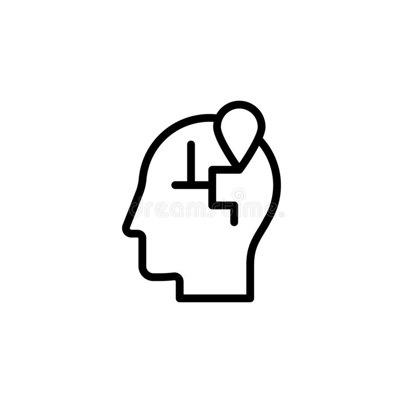 human, brain, location icon. Simple thin line, outline vector of Mind process icons for UI and UX, website or mobile application vector illustration