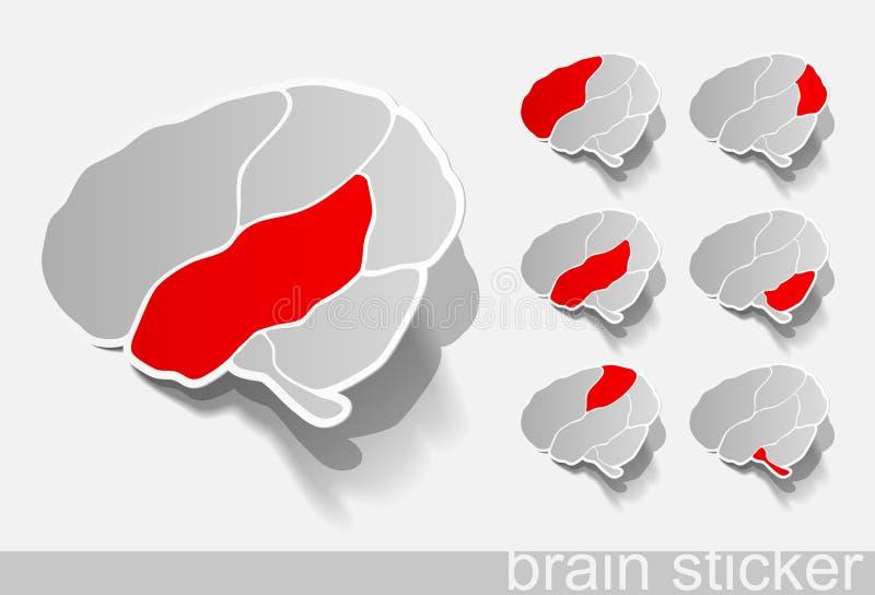 Download Human Brain, Realistic Design Elements Stock Vector - Image: 25366383