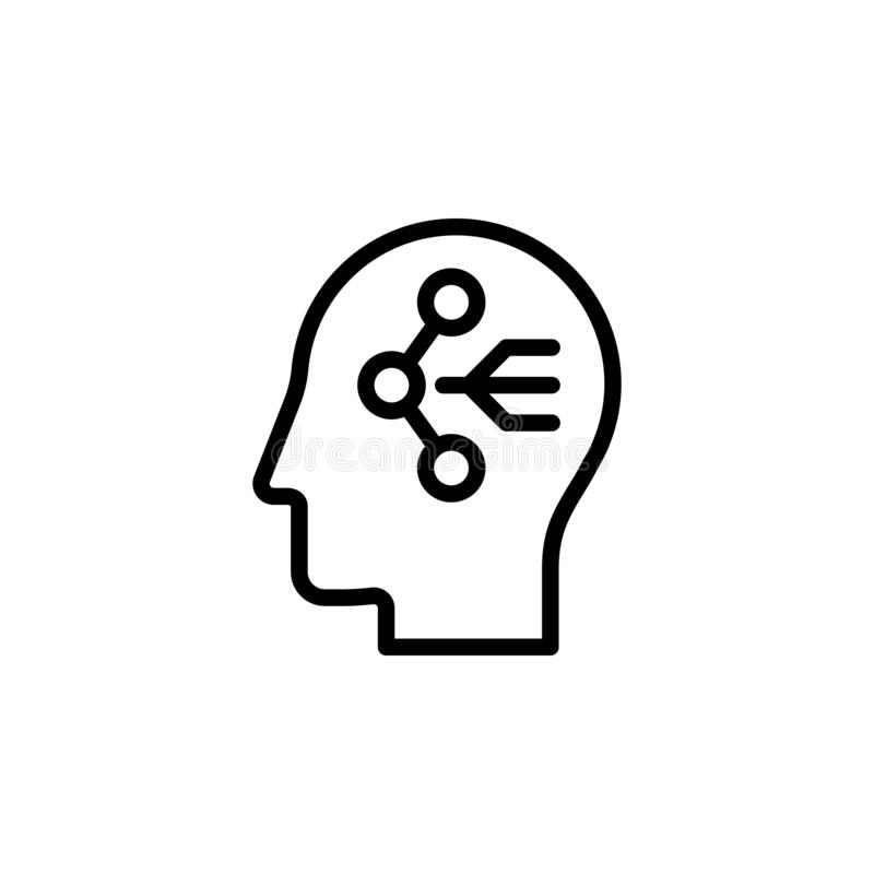human, brain, sharing icon. Simple thin line, outline vector of Mind process icons for UI and UX, website or mobile application vector illustration