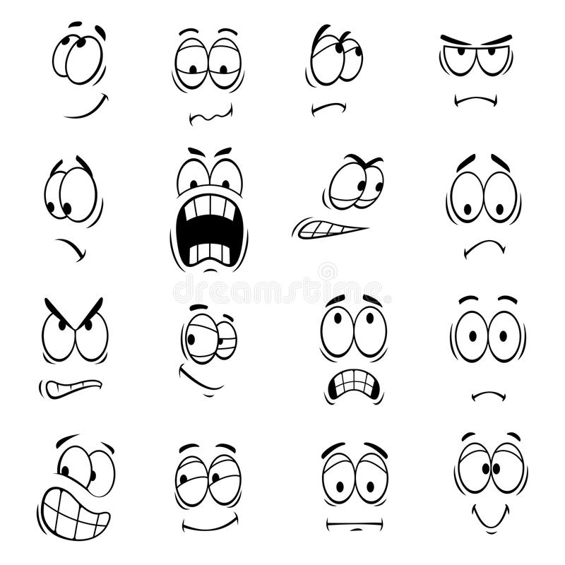 Human Cartoon Eyes Emoticons Symbols Stock Vector Illustration Of