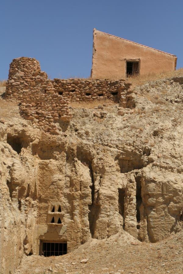 Human caves stock image