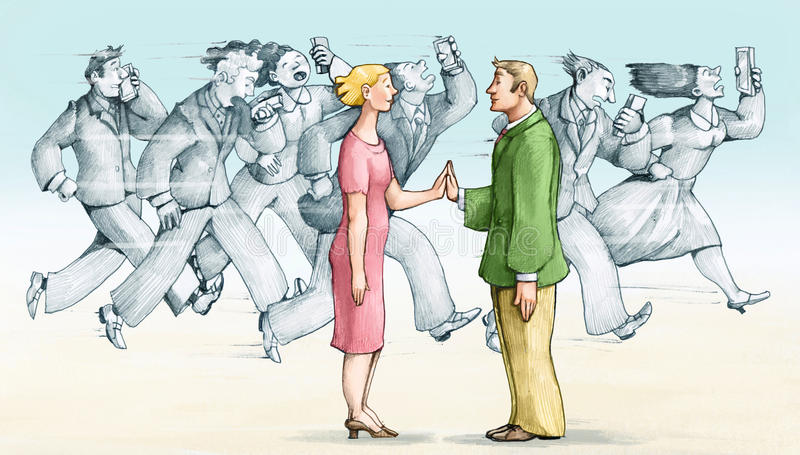 Human contact stock illustration