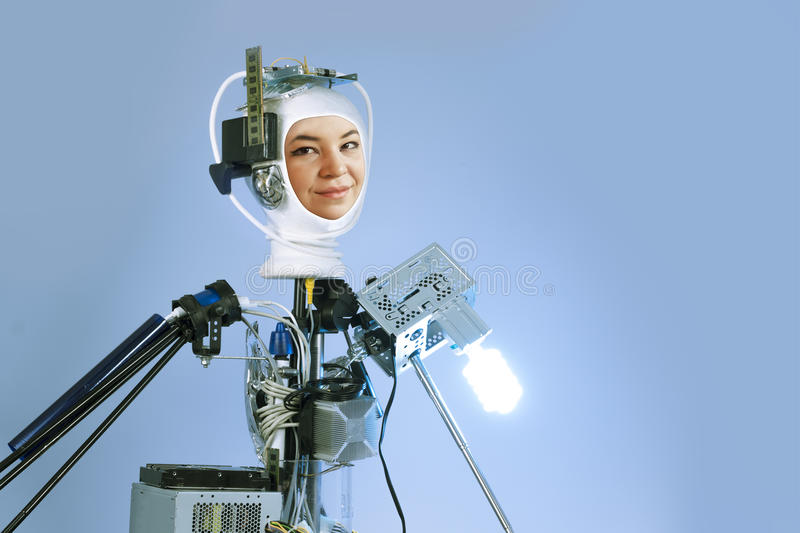 Human Cyborg Robot. For futuristic artificial intelligence imagery royalty free stock photos