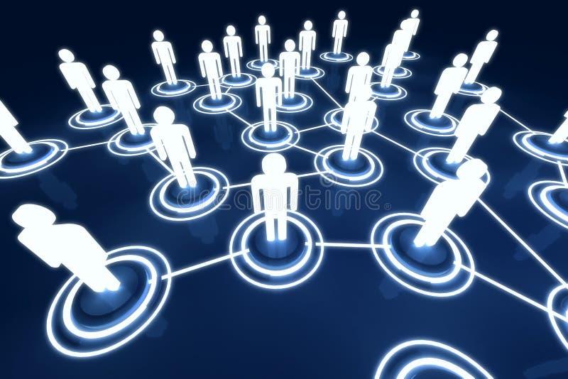 Human 3D Model Light Connection Link Organization Network Stock Photos