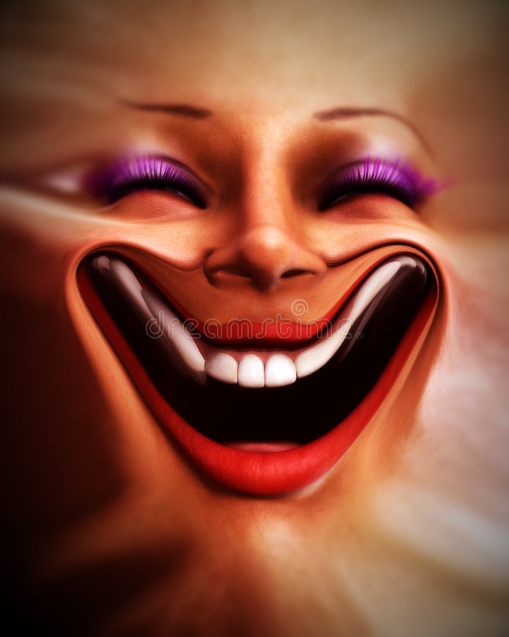 Download Human Distorted Face 6 stock illustration. Illustration of laughing - 3130407