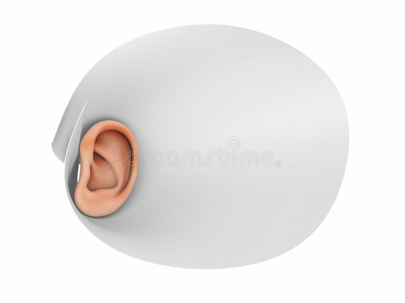 Human Ear And Advanced Listening Stock Images