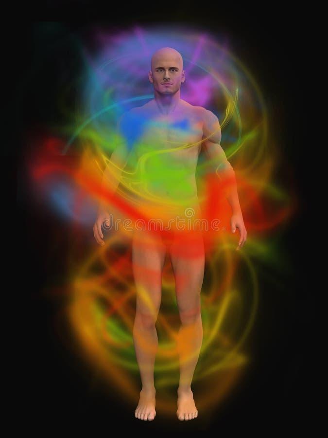 Human energy body vector illustration