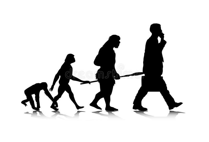 Human Evolution. An abstract illustration of human evolution royalty free illustration