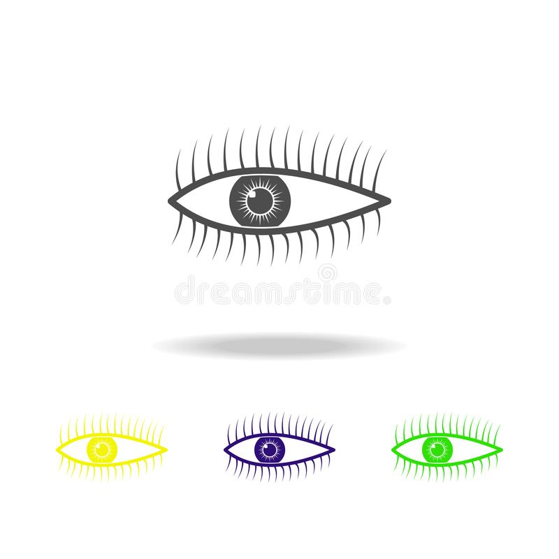 Human eye organ multicolored icons. Element of body parts multicolored icons. Signs and symbols collection icon for websites, web. Design, mobile app, UI, UX on stock illustration
