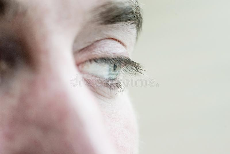 Human eye is very close stock images