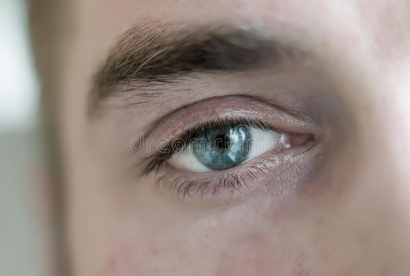 Human eye is very close royalty free stock photography