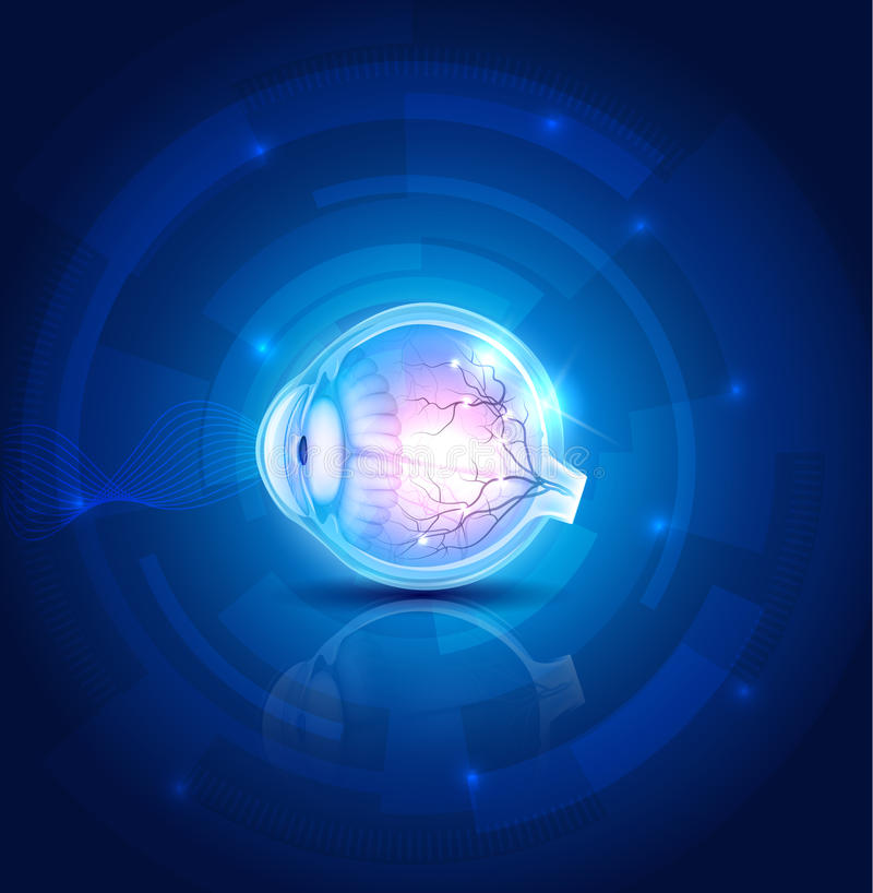 Human eye vision background vector illustration