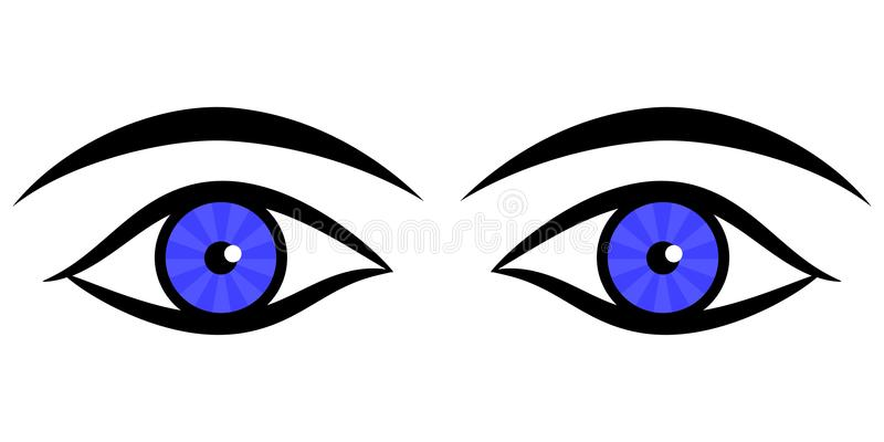 Human eyes stock illustration