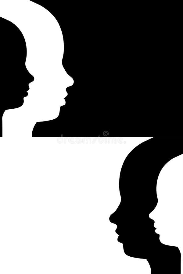 human face outline stock illustration