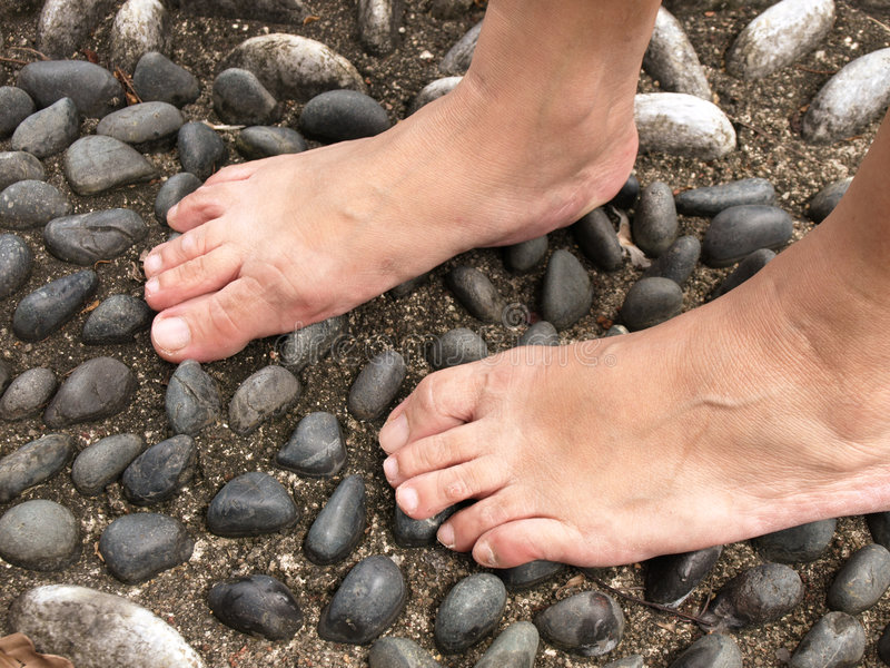 Download Human Feet stock image. Image of blood, stones, support - 6575599
