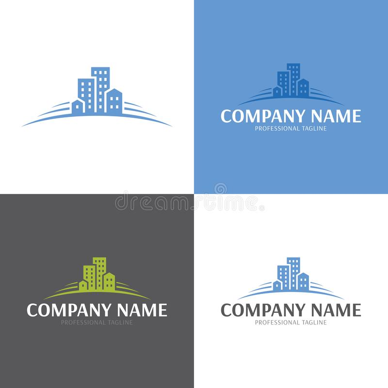 Buildings Real Estate Logo and Icon. Vector Illustration. stock photography