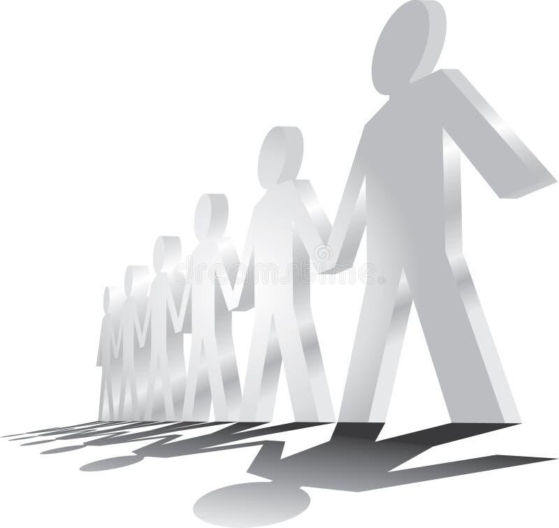 Download Human figures stock illustration. Image of equal, line - 21389794