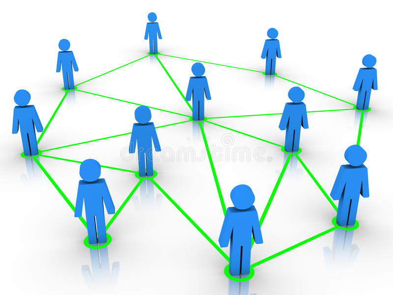 Download Human Figures Connected As A Network Stock Illustration - Illustration of people, internet: 27693996