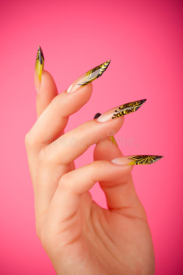 Download Human Fingers With Beautiful Fingernail Stock Image - Image: 14094425