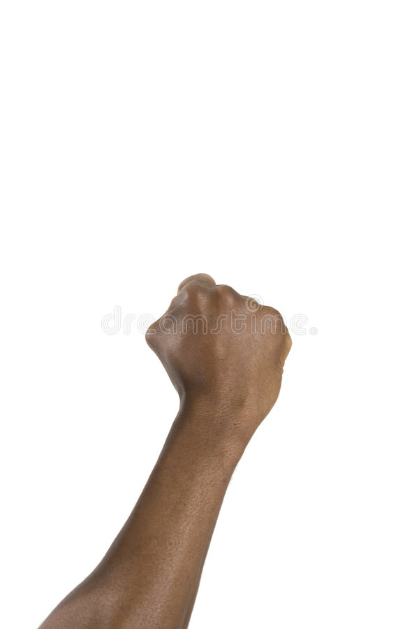 Human fist isolated. On a white background royalty free stock photos